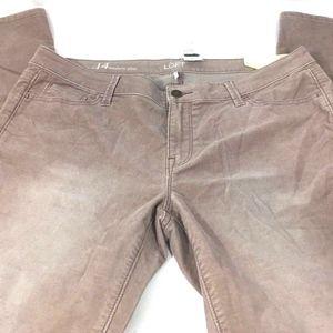 LOFT Women's Modern Slim Corduroy Pants
